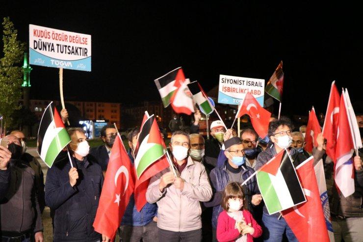 Kırşehir'de Memur-Sen ve sendikalar İsrail zulmünü kınadı