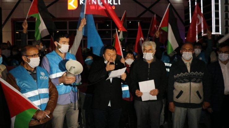 Niğde'de Filistin'e destek konvoyu düzenlendi