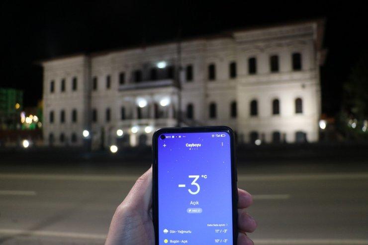 Sivas Mayıs ayında dondu, termometreler eksi 3 dereceyi gösterdi