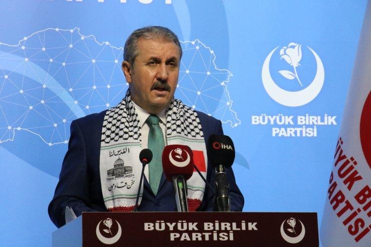 """BBP Genel Başkanı Destici: """"(Mescid-i Aksa'ya yapılan saldırı) Müslüman varlığının yok edilmeye çalışılması, insanlık dışıdır"""""""