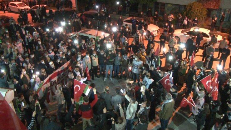 Filistin için yüzlerce araç Eskişehir'de konvoy yaptı