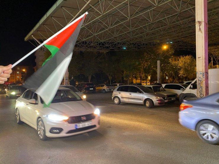 Aksaray'da İsrail'i protesto konvoyu