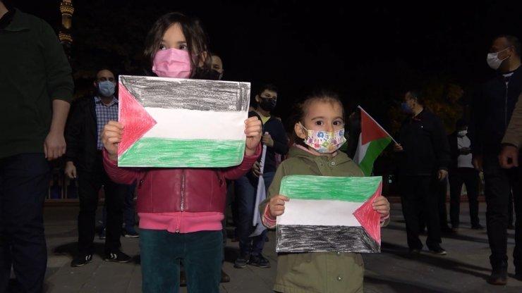 Kırıkkale'de İsrail protesto edildi