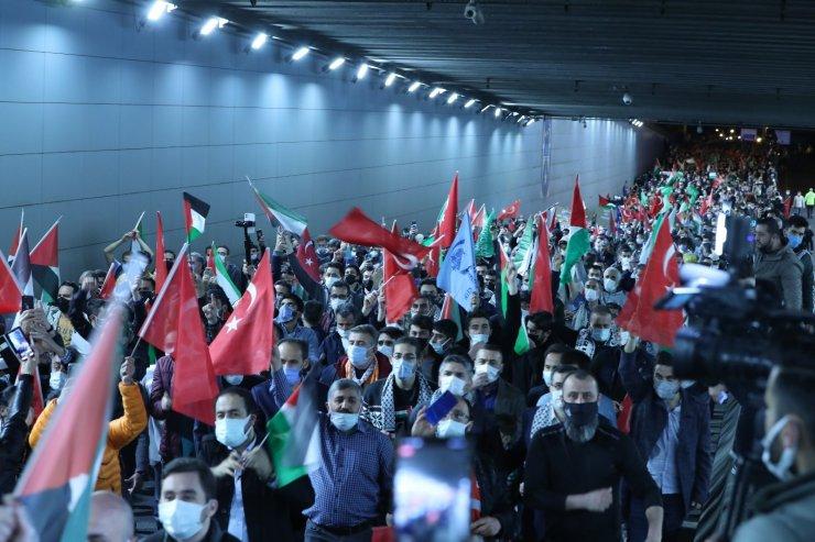 İsrail'in Mescid-i Aksa'ya yönelik saldırıları Ankara'da protesto edildi