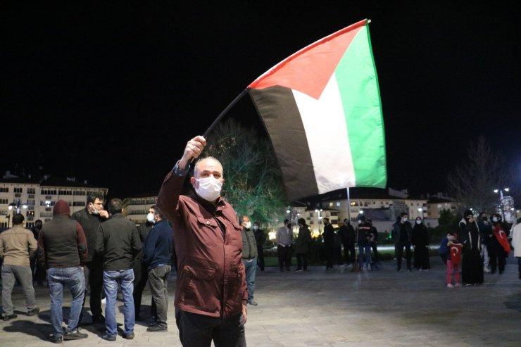 Sivas halkı Filistin için sokaklarda