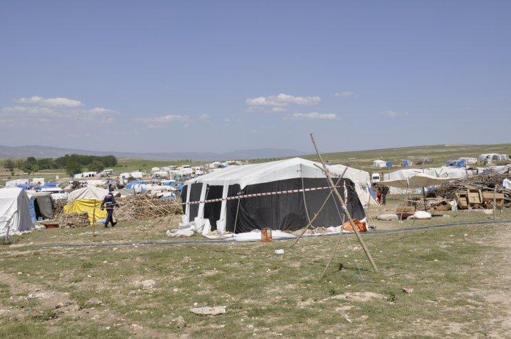 Çadırda yaşayan 8 kişilik aile karantinaya alındı