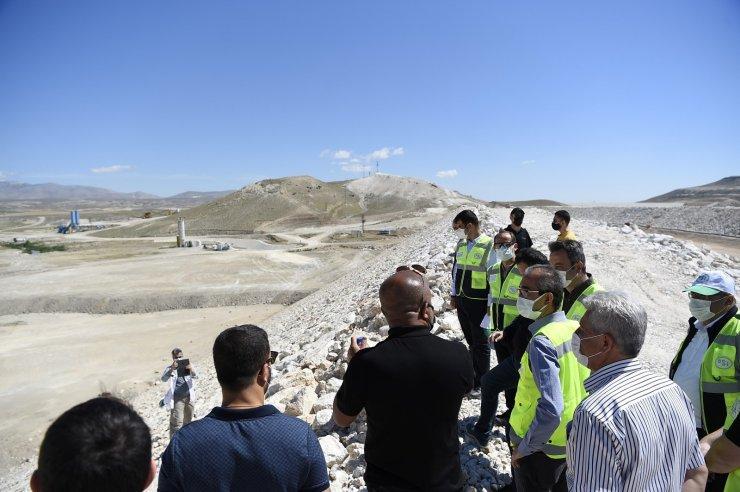 Gökpınar Barajının gövde dolgusunun yüzde 90'ı tamamlandı