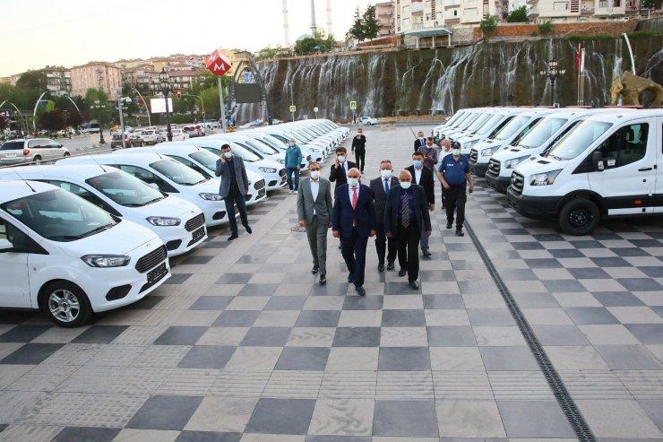 Keçiören'e daha hızlı hizmet için 42 yeni araç