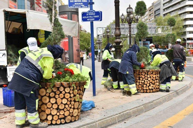 Başkent bahara hazırlanıyor