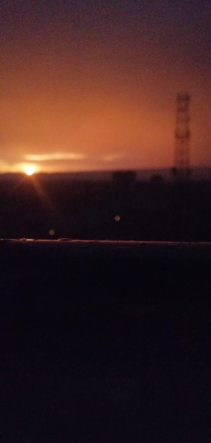 Kayseri gün batımında kızıla boyandı, kartpostallık görüntüler ortaya çıktı