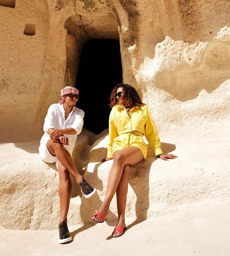 Fenerbahçeli futbolcu Tisserand ailesi ile Kapadokya tatilinde