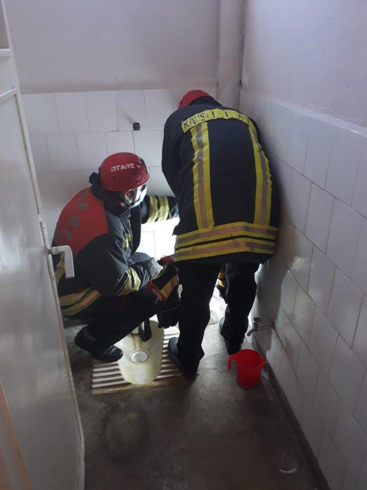 Kayseri Büyükşehir İtfaiyesi can kurtarmaya devam ediyor