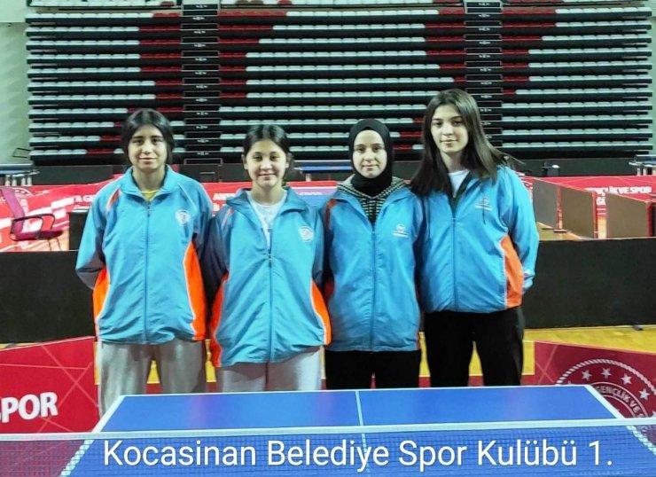 Kocasinan'ın Masa Tenisi B Takımı ilk yarıyı yine lider tamamladı