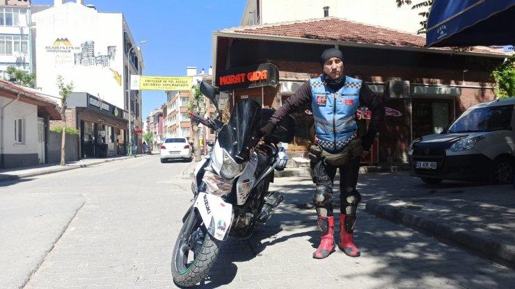 Motosikletli Kuryeler Derneği'nden Tepebaşı Belediyesi'ne teşekkür