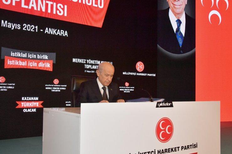 MHP Genel Başkanı Bahçeli, MYK ve MDK üyeleri ile araya geldi