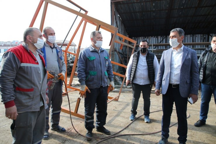 Gölbaşı Belediye Başkanı Şimşek'ten, işçilere 3 bin 300 TL promosyon desteği