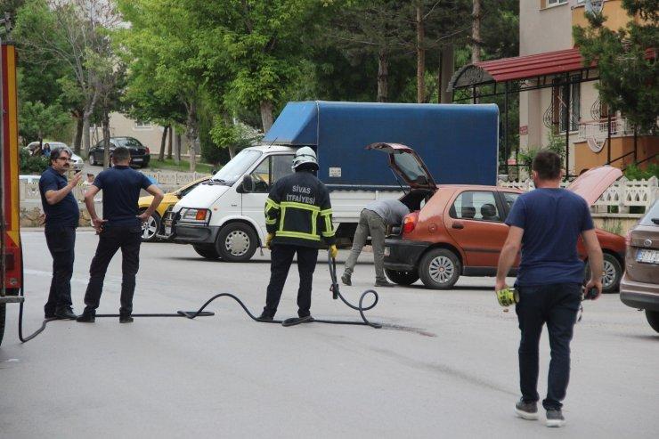LPG'li Otomobilde yaşanan gaz kaçağa paniğe neden oldu