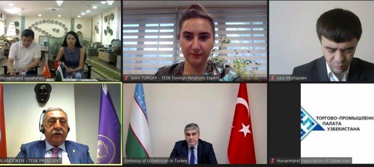 Türk ve Özbek sanatkarlar arasında işbirliği toplantısı yapıldı