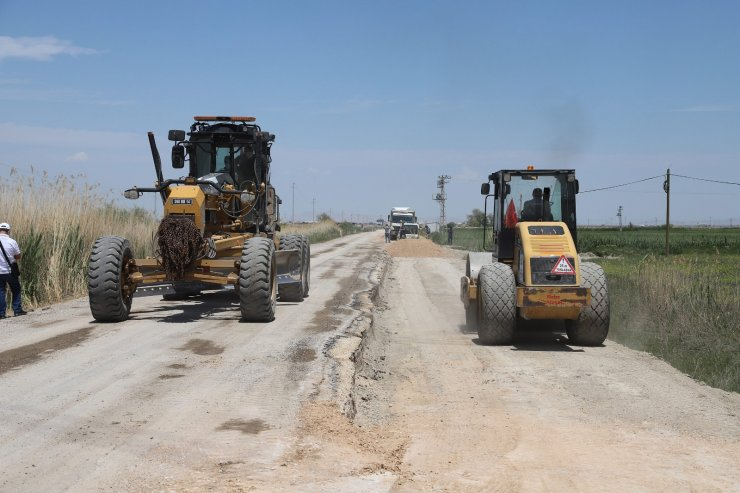Karatay'da 13,7 kilometrelik mahalle yolu yapılıyor