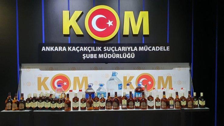 Başkent'teki sahte alkol operasyonunda 12 kişi gözaltına alındı