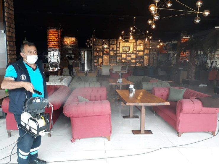 Pursaklar Belediyesi'nden işletmelere etkin dezenfekte çalışması