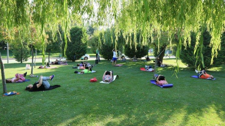 Odunpazarı'nda parklarda sabah sporu başlıyor