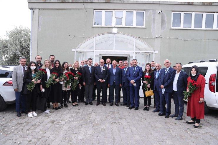 ATO Başkanı Baran ve ATO Başkan Yardımcısı Yılmaz, çiçek borsasını ziyaret etti