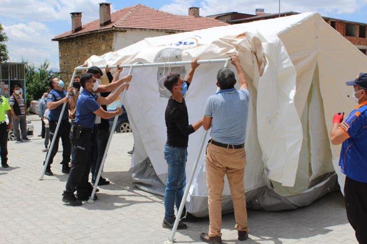 Sarıveliler'de AFAD tarafından çadır kurma eğitimi verildi