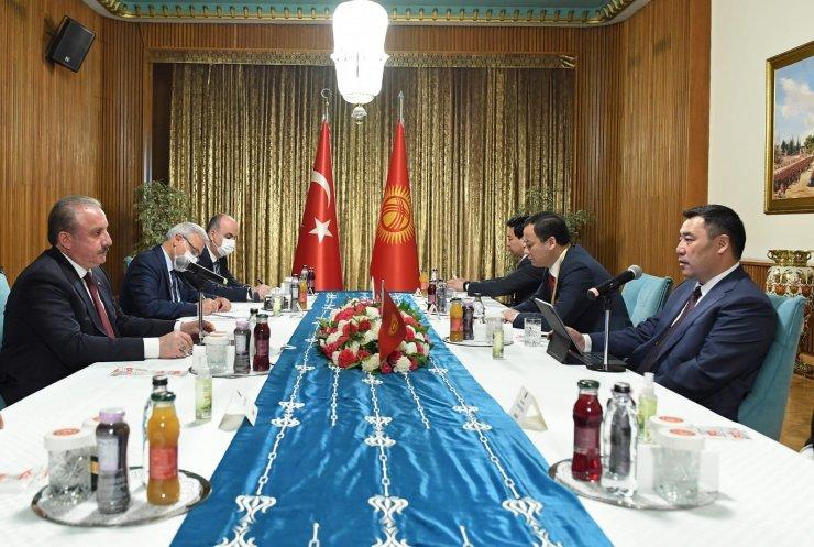 TBMM Başkanı Şentop, Kırgızistan Cumhurbaşkanı Caparov ile bir araya geldi