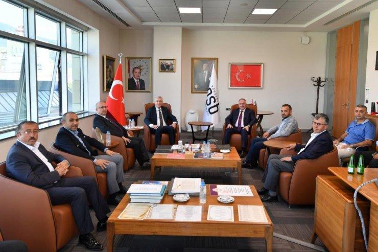Nursaçan, MHP İl Yönetiminin ziyaretinde OSB'de yaptıkları çalışmaları anlattı