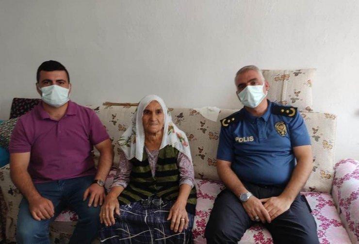 Atiye ninenin yardımına polis ekipleri yetişti