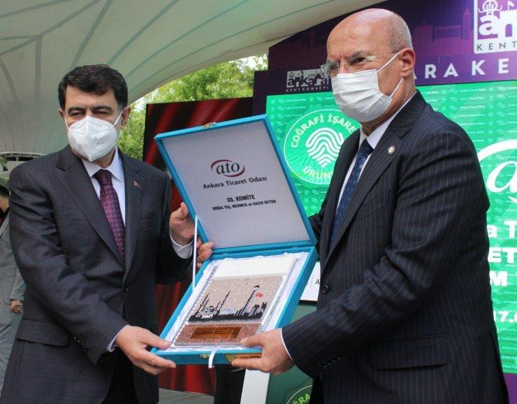 Ankara Valisi Şahin, 'Coğrafi İşaretli Ürünler Kitabı'nın tanıtımına katıldı