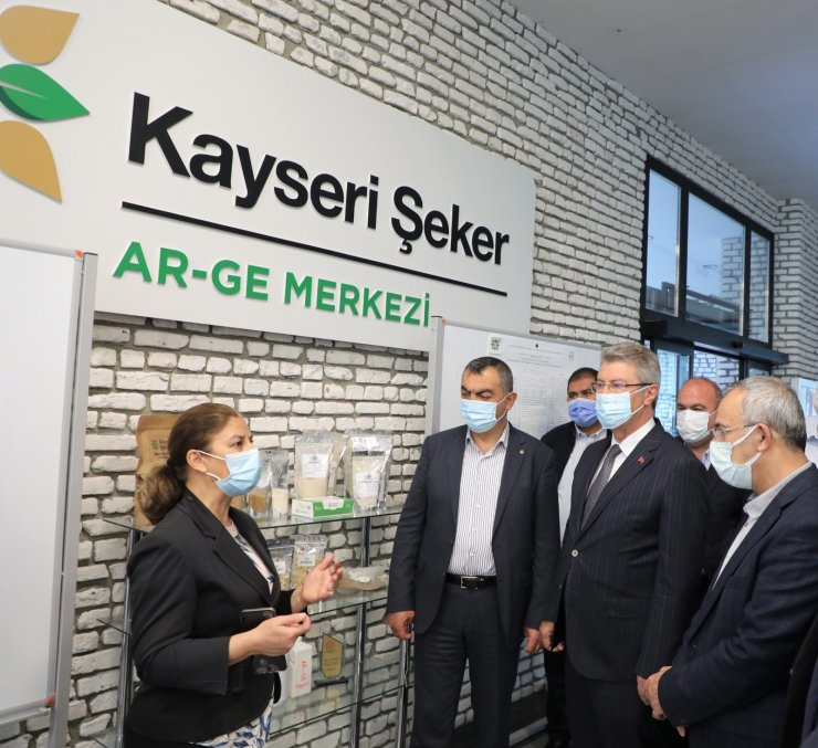 KAYSO heyeti Kayseri Şeker'de