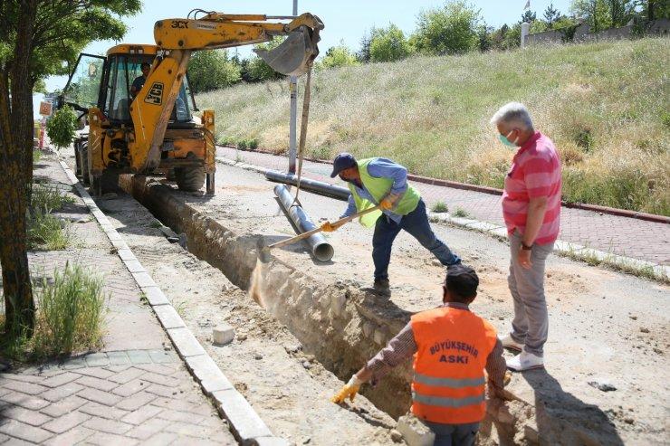 ASKİ Diplomatlar Sitesi'nde 7 bin metrelik içme suyu imalatına başladı