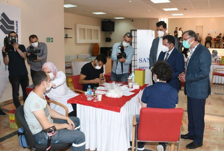 Konya OSB'de 3 günde 3 bin 705 çalışan aşılandı