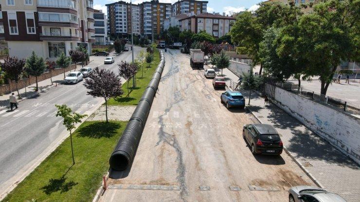 Mahallelerde yağmur suyu hattı oluşturuluyor