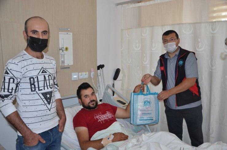 Aksaray Belediyesinden hastalara bakım seti