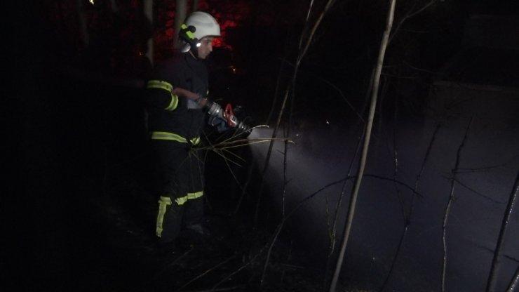 Kırıkkale İl Özel İdaresi bahçesinde yangın paniği