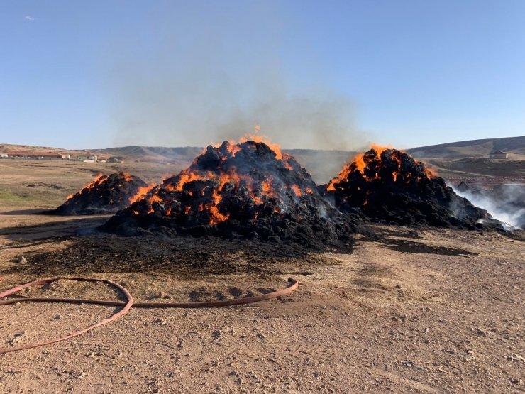 Haymana'da 5 bin balya saman yanarak kül oldu