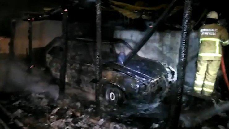 Kırıkkale'de otomobil ve tandırlık alevlere teslim oldu