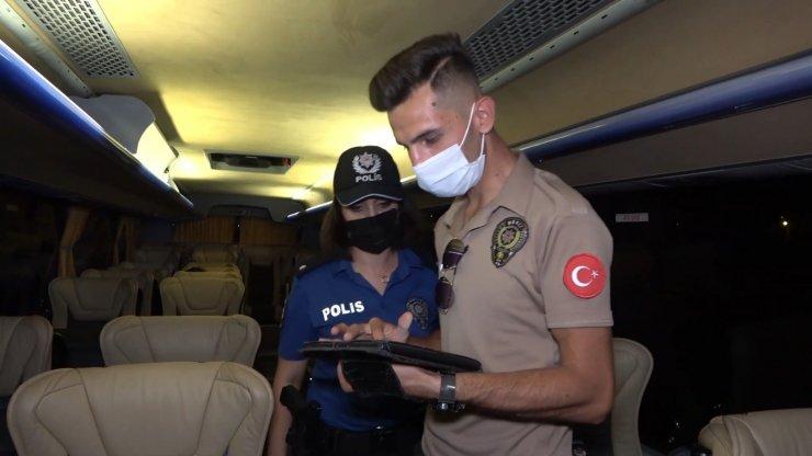 Riskli gruptaki otobüs şoförü direksiyon başında yakalandı