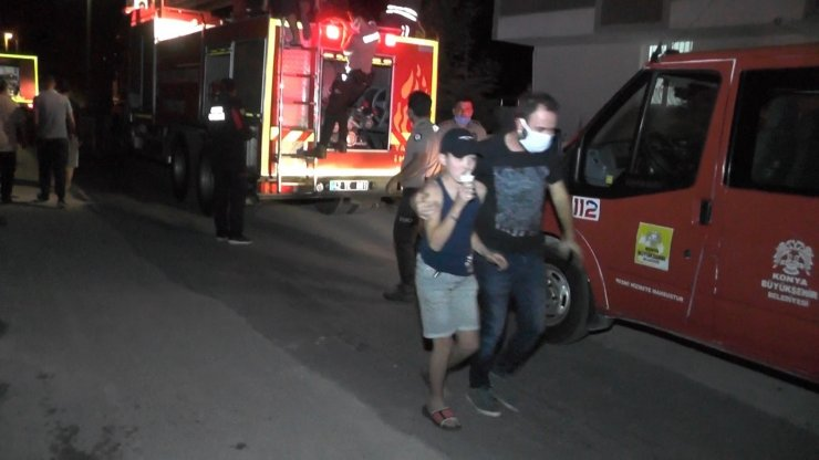 Ereğli'de yangın korku ve paniğe neden oldu