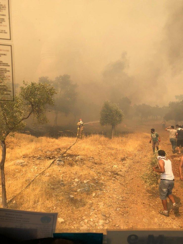 Milas'taki Hava Meydan Komutanlığı yangın söndürme çalışmalarına kesintisiz destek sağlıyor