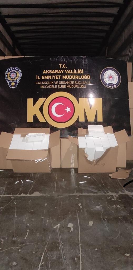 9 milyon bandrolsüz makaronla yakalanan tır sürücüsü tutuklandı